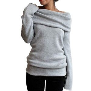 Sweaters - Slouchy off Shoulder Sweater